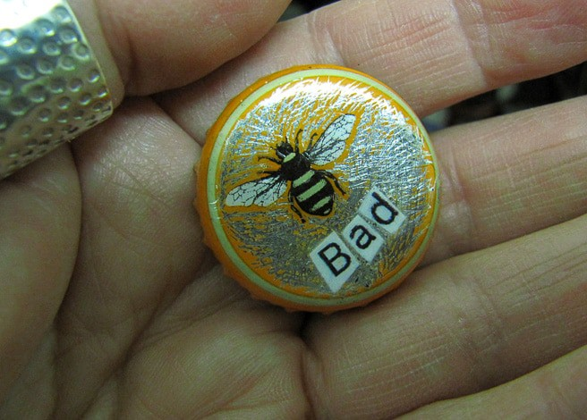Bee Bad badge by Sheena Vallely