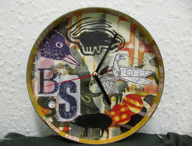 Birds and Bees Clock by Sheena Vallely