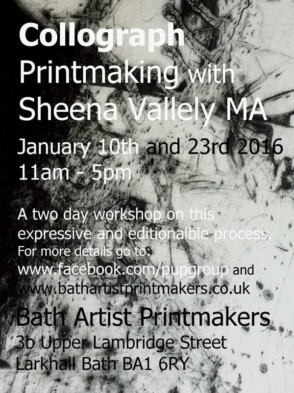 sheena vallely collograph workshops jan 2016